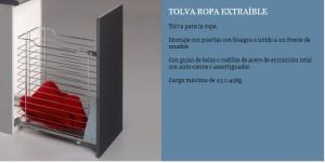 TOLVA PARA ROPA EXTRAIBLE